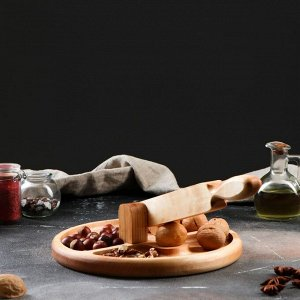"Тарелка для колки орехов ""Орехокол"", 25х25 см, массив ясеня"