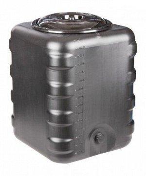 Бак 150лит Квадратный под ДУШ Чёрный М-6463