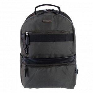 Рюкзак молодежный эргономичная спинка, deVENTE 44 х 32 х 16 см, Business, серо-зелёный