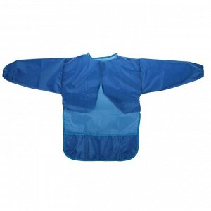 Фартук-накидка с рукавами для труда 540 х 450 Calligrata 3 кармана, синий, рост 120-140 см, длина рукава 34 см