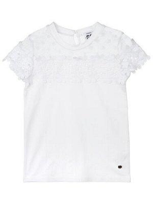 Нарядная Фуфайка трикотажная для девочек (футболка)
