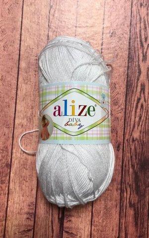 Пряжа для вязания Alize Diva Baby Ализе Дива Беби  цвет №55