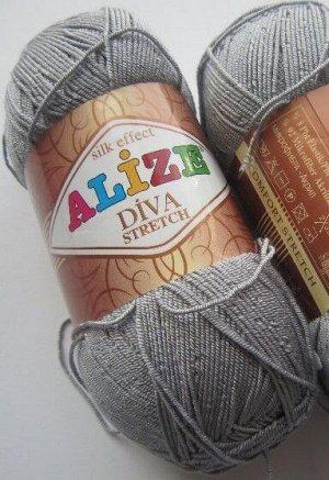 Пряжа для вязания Alize Diva Stretch Ализе Дива стрейч №253
