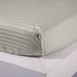 Постельное белье Страйп Сатин Однотонный на резинке CTR005
