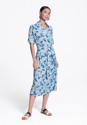 Длинное платье из вискозы с принтом