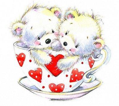 Красивая выпечка. Вкусный чай. Отличный кофе.-3 — Вафельные картинки-новинки. О любви. — Торты и пирожные