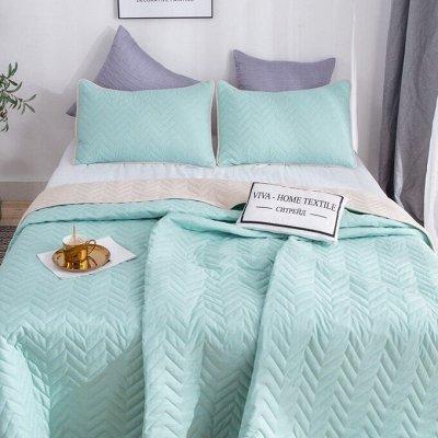 Роскошная постель - залог успешного дня. Новинки! — Однотонные двусторонние покрывала — Спальня и гостиная