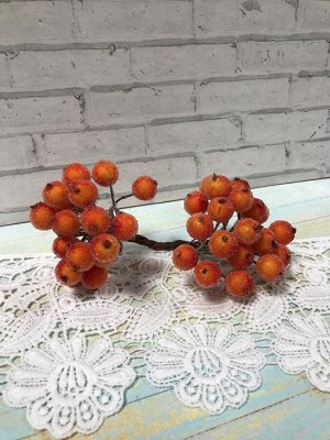 Ягоды на проволоке сахарные оранжевые 10мм 40шт