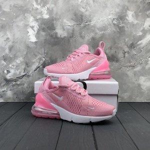 Кроссовки Размер 23,5 см  n*ike air max 270 pink  Верх кроссовок  многослойный, дышащий, гибкий розового цвета, материал mesh     Скользящая шнуровка для равномерного фиксирования ноги     На язычке л
