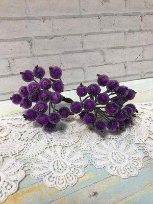 Ягоды на проволоке сахарные фиолетовые 10мм 40шт