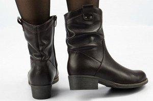 Ботинки Тип: ботинки, полусапоги Подошва: ТЭП Высота модели в 27 см Сезон: демисезон Вид застежки: молния Верх: натуральная кожа  Подклад: байка