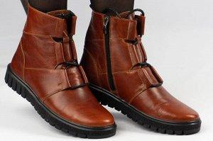 Ботинки Тип: ботинки Подошва: ТЭП Сезон: демисезон, зима Вид застежки: молния и шнурки Верх: натуральная кожа Подклад: байка, шерстяной вязаный мех
