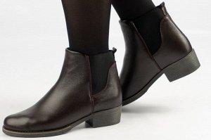 Ботинки Тип: ботинки/ботильоны Подошва: ТЭП Сезон: демисезон Вид застежки: без фурнитуры Верх: натуральная кожа Подклад: байка