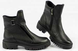 Ботинки Тип: ботинки Подошва: ТЭП Сезон: демисезон Вид застежки: молния Верх: натуральная кожа Подклад: байка или шерстяной мех