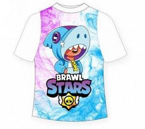 Подростковая футболка Brawlstars Leon Shark (Леон Шарк)