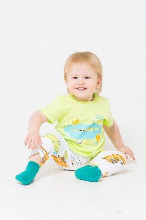 Комплект(Весна-Лето)+baby (салатовый, крокодильчики на белом)