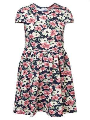 Платье  Цвет:цветочный узор