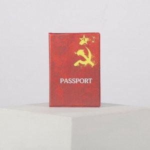 Обложка для паспорта, цвет красный 4732769
