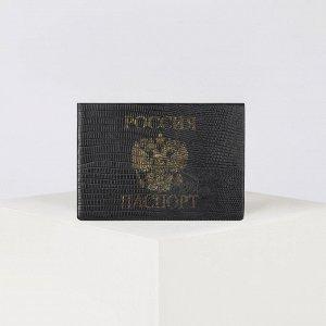 Обложка для паспорта, цвет чёрный 4765118