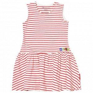 Платье для девочки, красная полоска
