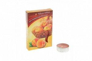 Свеча чайная ароматизированная, в гильзе, персик (6 штук), С-00-18/20, С-00-18, С-00-18, 20