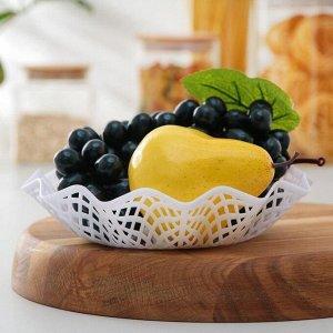 """Ваза для хлеба и фруктов 20 см """"Сетка"""", цвета МИКС"""