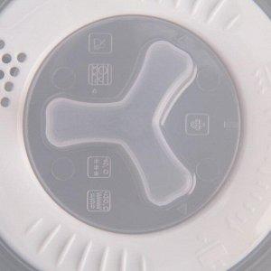 Крышка для СВЧ Galaxy, D=25 см, с паровыпускным клапаном, прозрачная