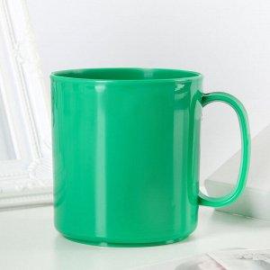 Кружка термостойкая 350 мл, цвет зелёный
