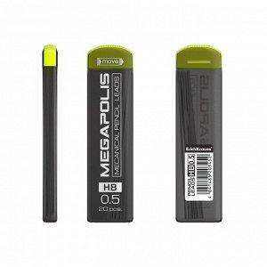 Набор грифелей для механических карандашей 0.5 мм, 20 штук, Erich Krause MEGAPOLIS Concept