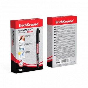 Маркер - лайнер перманентный 0.6 мм Erich Krause FP-50 чёрный, чернила на спиртовой основе светостойкие, водостойкие без ксилола и толуола. Для письма на любой поверхности, в том числе на CD/DVD диске