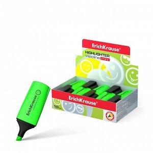 Маркер текстовыделитель 0.6-5.2 мм Erich Krause Visioline Mini зелёный, флуоресцентные чернила на водной основе