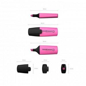Маркер текстовыделитель 0.6-5.2 мм Erich Krause Visioline Mini, розовый, флуоресцентные чернила на водной основе
