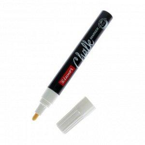 """Маркер меловой 1.0 мм Luxor """"Chalk Marker"""" белый, пулевидный, водная основа"""
