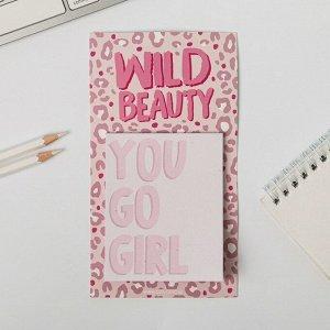 Блок бумаги для записи на магните Wild beauty, 30 листов