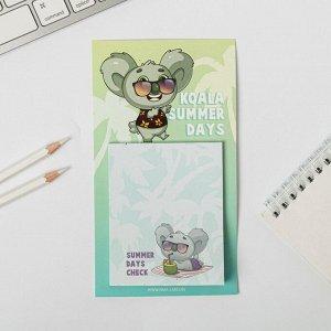 Блок бумаги для записи на магните Koala summer days, 30 листов