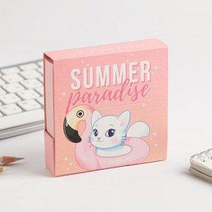 Бумажный блок в картонном футляре Summer paradise, 250 листов