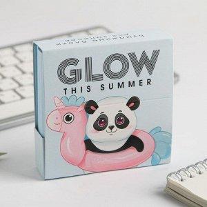 Бумажный блок в картонном футляре Glow this summer, 250 листов