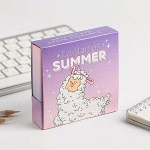 Бумажный блок в картонном футляре Lla-Lamas Summer, 250 листов
