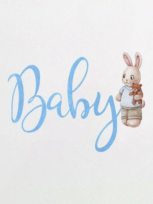 "Трикотажный плед ""Baby зайчик"""