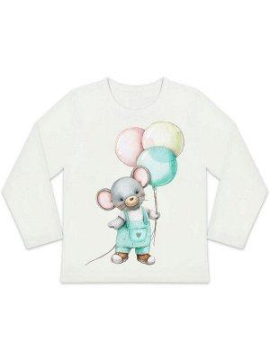 """Лонгслив """"Мышонок с шариками"""" для малышей"""