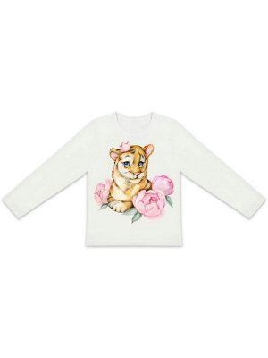 "Лонгслив ""Тигрица в цветах"""