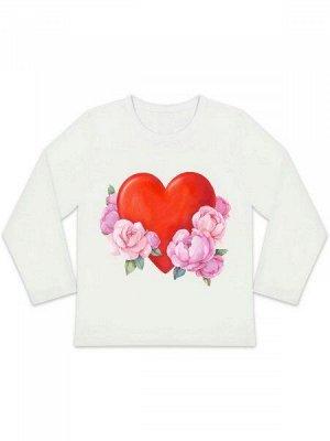 """Лонгслив """"Сердце и цветы"""""""