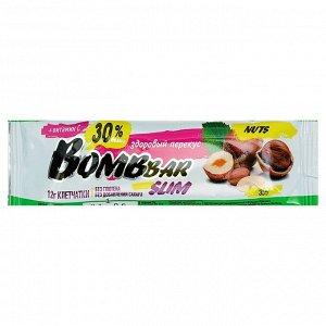 Протеиновый батончик BOMBBAR Slim, фундук-арахис, 35 г