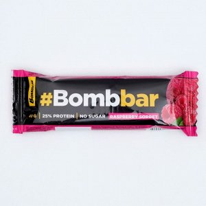 Протеиновый батончик в шоколаде Bombbar, малиновый сорбет, 40 г