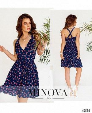 Платье №2013-джинс
