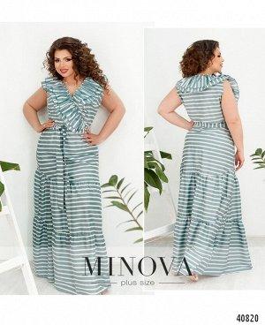 Платье №3348-светло-бирюзовый