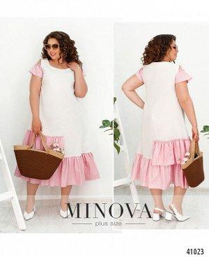 Платье №517Б-розовый