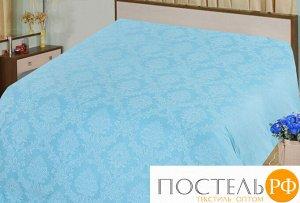 Аквамарин простыня 1,5 спальный поплин-жаккард