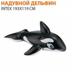Надувной дельфин intex 193х119 см 🌊