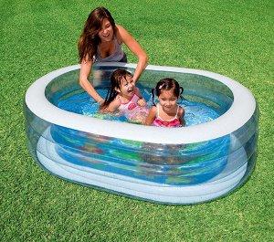 ⛺️Детский надувной бассейн intex 163X107X46 см , 230 л 🌊